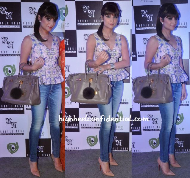 Michelle Poonawala Wears Peter Pilotto To Rouble Nagi Art Foundation Event-1