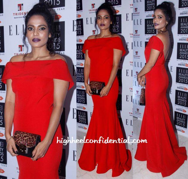 Priyanka Bose In Gauri And Nainika At Elle Beauty Awards 2015