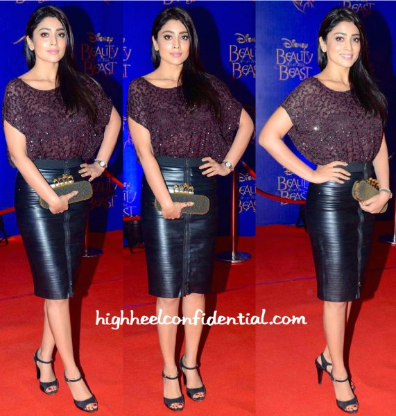 Shriya Saran In All Saints And BCBG At Beauty And The Beast Musical