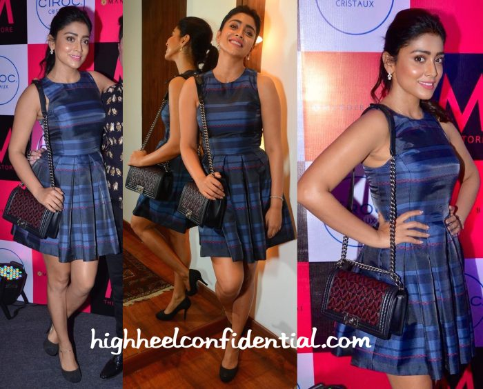 Shriya Saran In Armani Exchange At M Store Launch-1