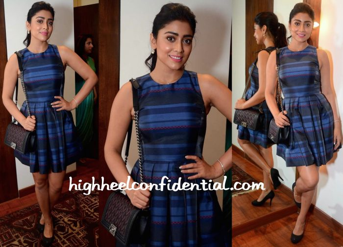 Shriya Saran In Armani Exchange At M Store Launch-2