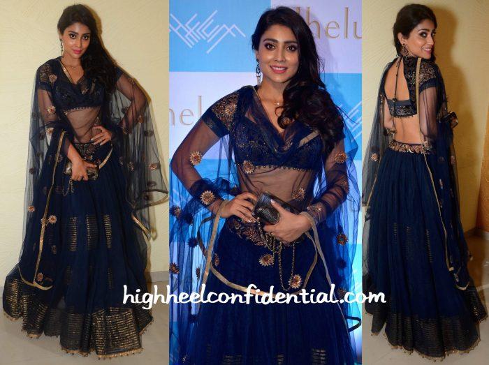 Shriya Saran In JJ Valaya At Jhelum Store Launch-1