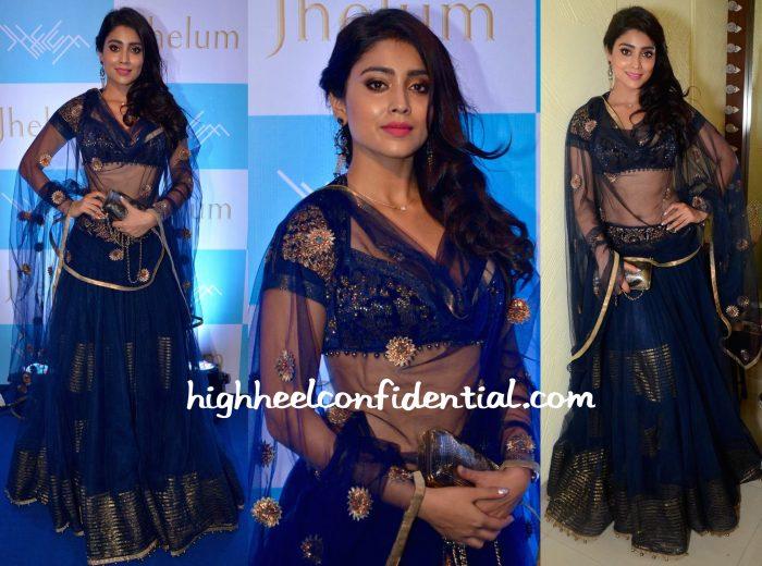 Shriya Saran In JJ Valaya At Jhelum Store Launch-2