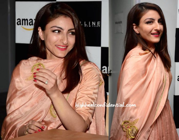 Soha Ali Khan In Sanjay Garg At The Designer's Show At AIFW S:S 2016-2