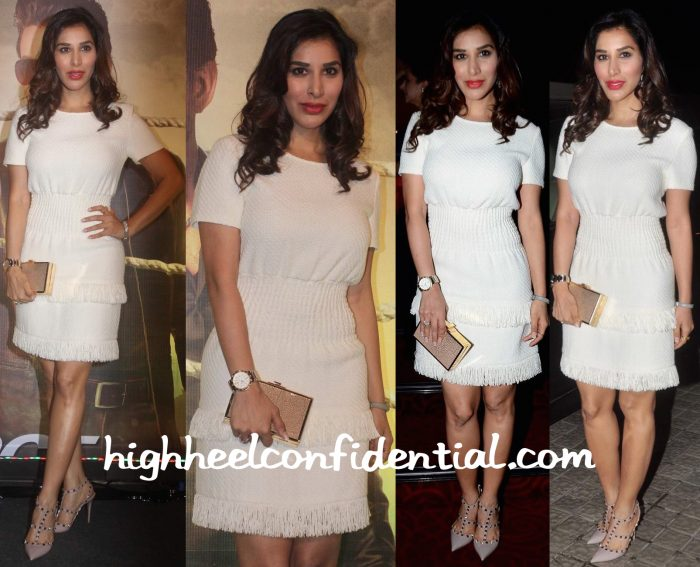 Sophie Choudry Wears Maje And Valentino To Jazbaa Premiere