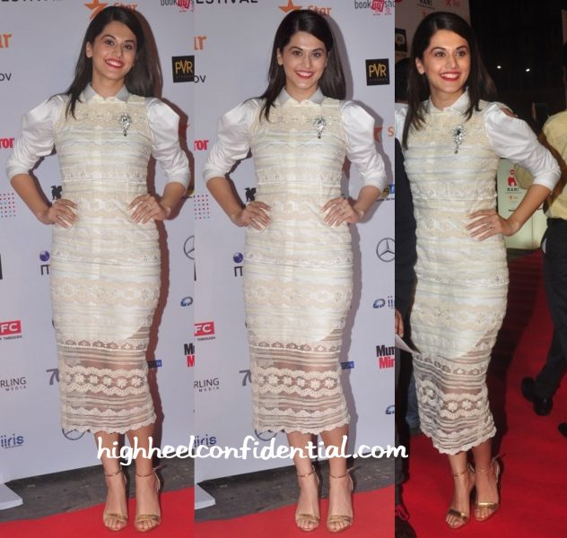 Taapsee Pannu In Archana Rao Label At MAMI 2015 Opening Night-1