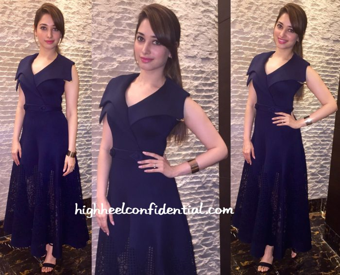 Tamannaah Bhatia Wears Dolly J To An Event At ISB Hyderabad