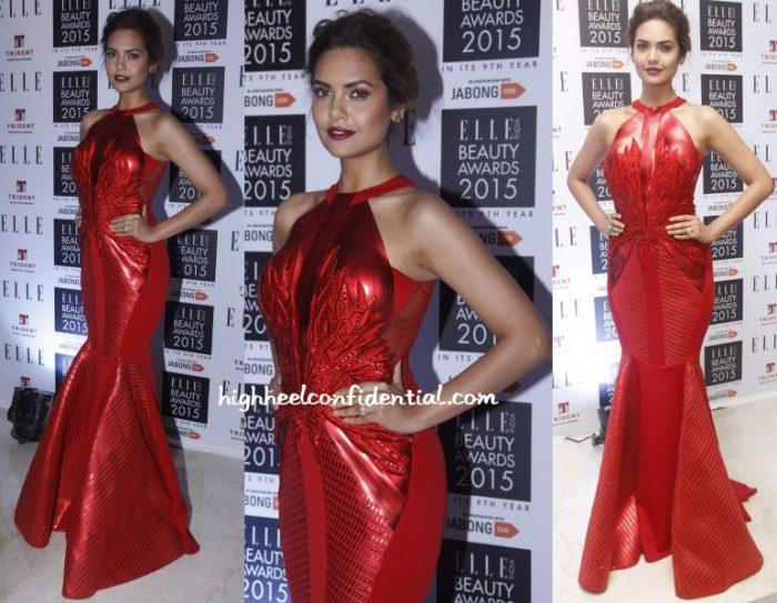 esha-gupta-amit-aggarwal-elle-beauty-awards-2015