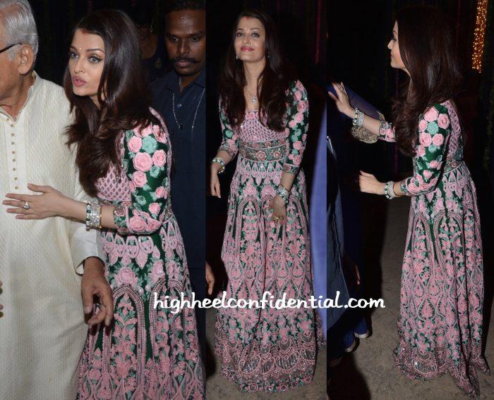 Aishwarya Rai Bachchan Wears Abu Jani Sandeep Khosla To Her Diwali Party-2