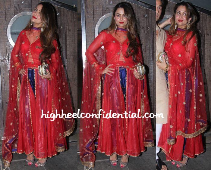 Amrita Arora In Seema Khan At Saif Ali Khan's Diwali Party-1