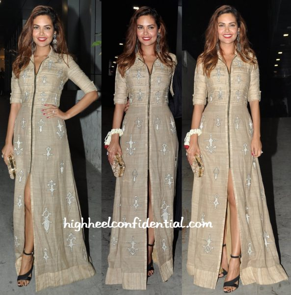 Esha Gupta In Nachiket Barve At A Diwali Bash-1