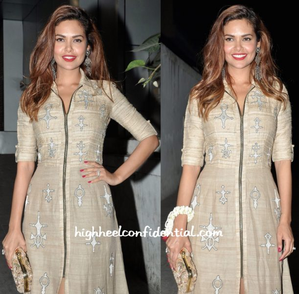 Esha Gupta In Nachiket Barve At A Diwali Bash-2