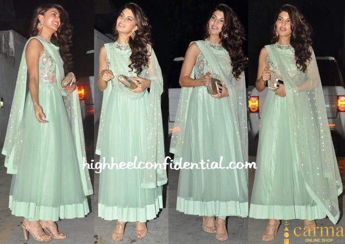 Jacqueline Fernandez In Shehlaa By Shehla Khan At Exceed Diwali Bash