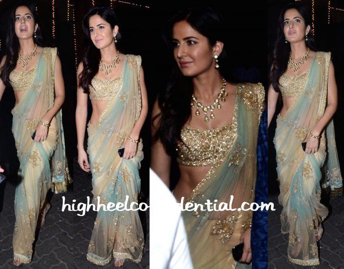 Katrina Kaif In Sabyasachi And Anmol At Anil Kapoor's Diwali Party