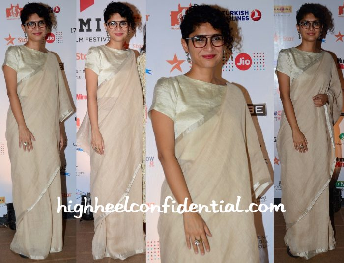 Kiran Rao In Anavila At MAMI 2015 Mumbai Film Festival Closing Ceremony