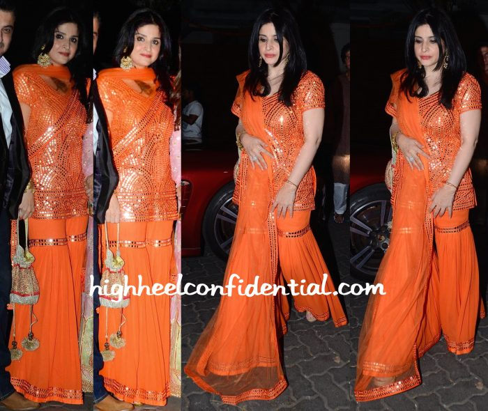Maheep Kapoor At Queenie Singh Wedding Bash And Anil Kapoor Diwali Bash In Seema Marwah