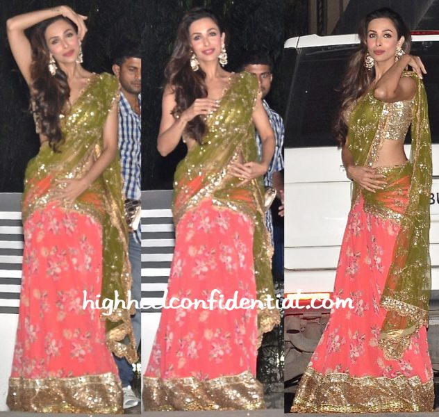Malaika Arora Khan In Seema Khan At Diwali Bash-2