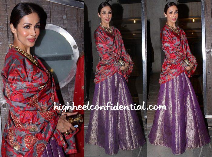 Malaika Arora Khan Wears Raw Mango To Bachchan And Saif Ali Khan Diwali Parties-1