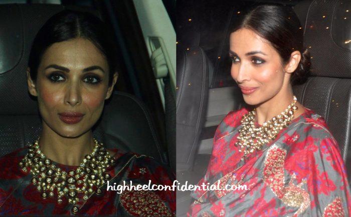 Malaika Arora Khan Wears Raw Mango To Bachchan And Saif Ali Khan Diwali Parties-2