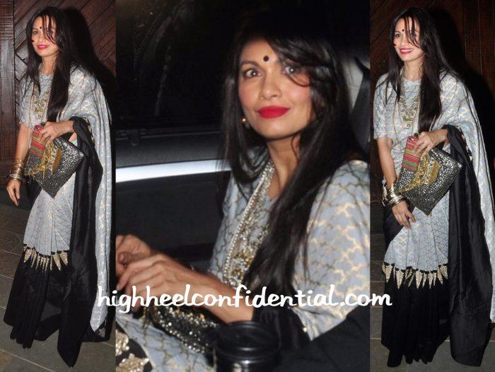 Maria Goretti In Payal Singhal At Bachchan Diwali Bash