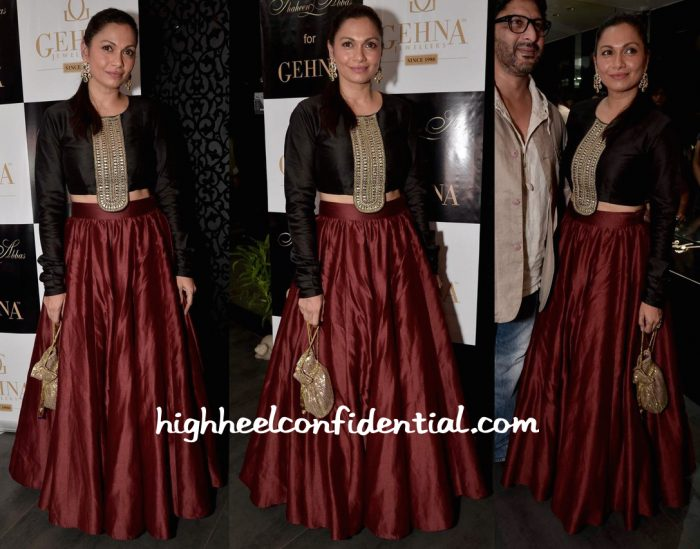 Maria Goretti In Payal Singhal At Shaheen Abbas For Gehna Jewellery Collection Unveiling-1