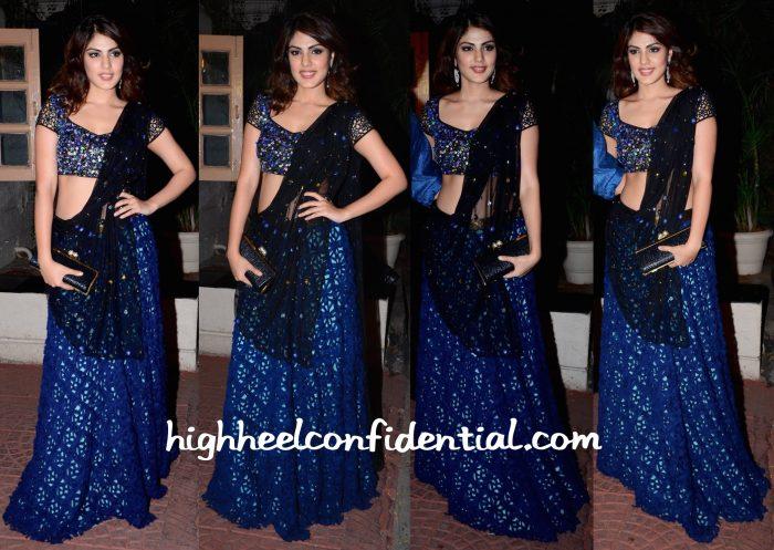 Rhea Chakraborty Wears Simply Simone To Ekta Kapoor's Diwali Party