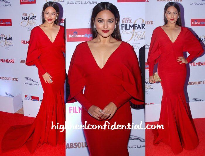 Sonakshi Sinha At Filmfare Glamour & Style Awards 2015-monisha jaising-1