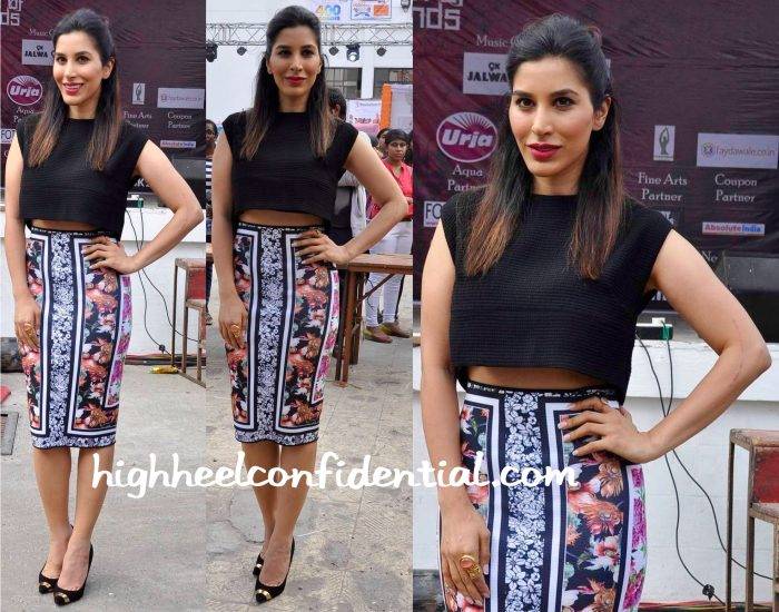 Sophie Choudry In Maje And Clover Canyon At Kshitij 2015-2