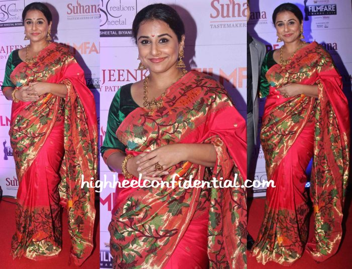 Vidya Balan In Gaurang At Filmfare Awards Marathi 2015