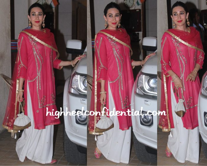 karisma kapoor at saif ali khan diwali 2015 bash-1