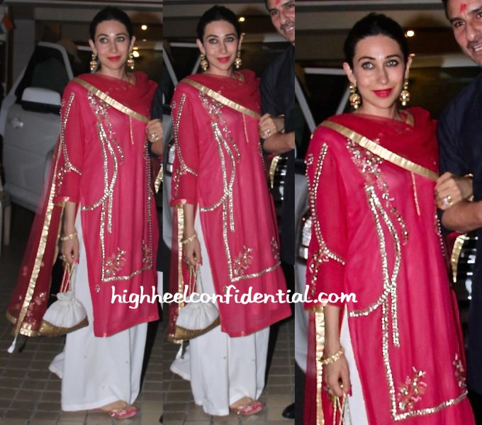 karisma kapoor at saif ali khan diwali 2015 bash-2