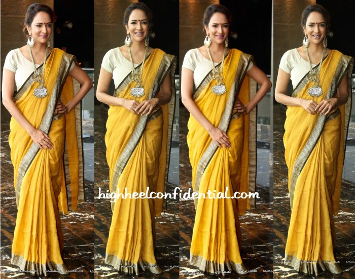 lakshmi manchu in anavila at 40 years mohan babu press meet-1