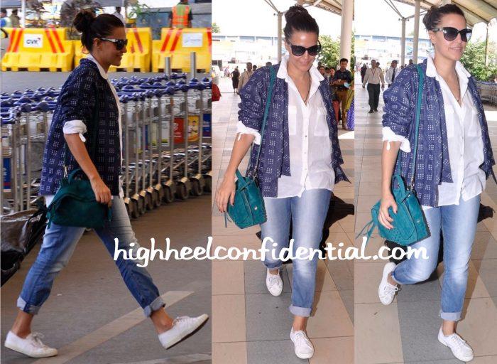 neha dhupia-mumbai airport-bungalow 8-tods bag-1