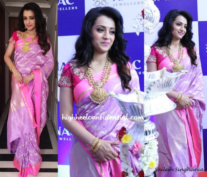 trisha-krishnan-sailesh-singhania-nac-jewellers-store-launch