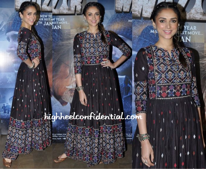 Aditi Rao Hydari In Vrisa At Wazir Promotions-1
