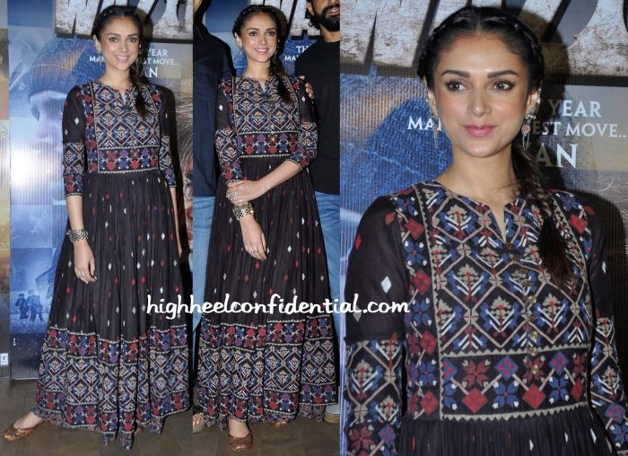 Aditi Rao Hydari In Vrisa At Wazir Promotions-2