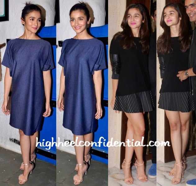 Alia Bhatt At Tamasha Success Bash And At Manish Malhotra's Birthday Do