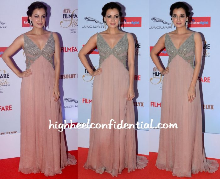 Dia Mirza In Khushali Kumar At Filmfare Glamour & Style Awards 2015-1