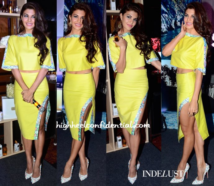 Jacqueline Fernandez Wears The Circus To Body Shop's Spring 16 Line Unveiling-1