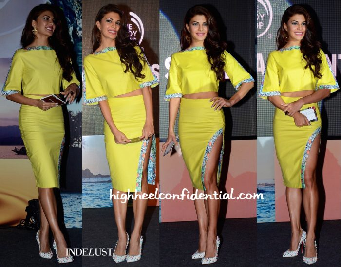Jacqueline Fernandez Wears The Circus To Body Shop's Spring 16 Line Unveiling-2