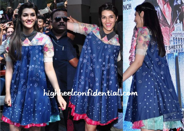 Kriti Sanon Wears Not So Serious By Pallavi Mohan To Dilwale Promotions-2