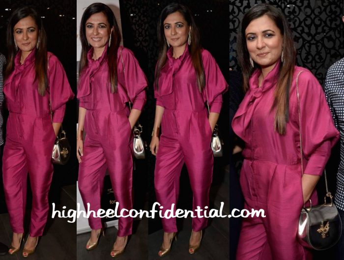 Mini Mathur In Bungalow 8 At Shaheen Abbas For Gehna Jewellery Collection Unveiling