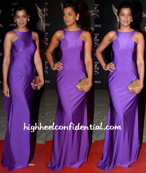 Mugdha Godse In Wendell Rodricks At Stardust Awards 2015-1
