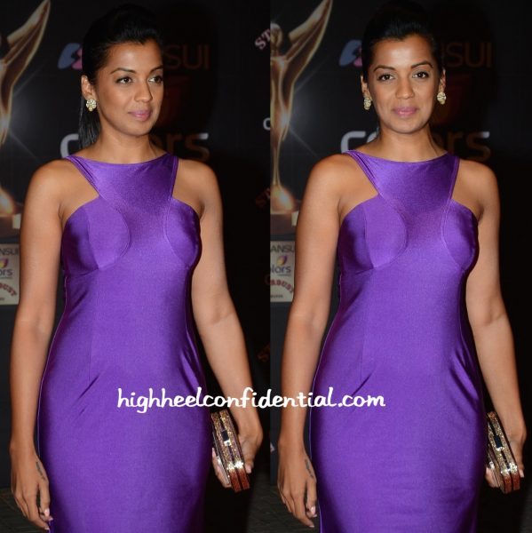 Mugdha Godse In Wendell Rodricks At Stardust Awards 2015-2