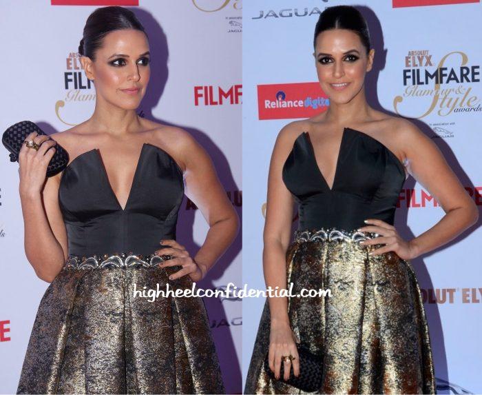 Neha Dhupia In John Paul Ataker At Filmfare Glamour & Style Awards 2015-2