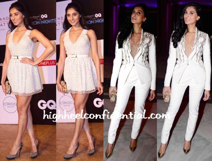Pernia Qureshi In Anand Bhushan At GQ Fashion Nights And In Gaurav Gupta At Manish Arora Event At The French Embassy