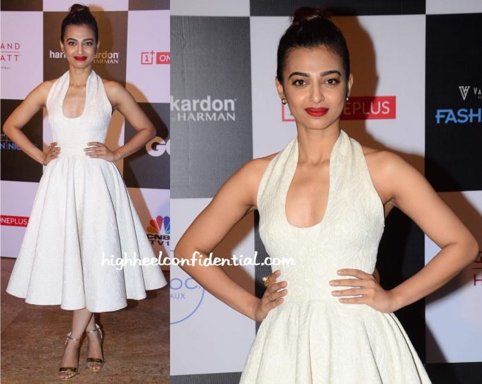 Radhika Apte In Swapnil Shinde At GQ Fashion Nights 2015-2
