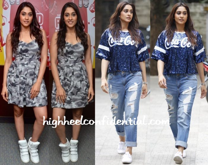 Regina Cassandra At Shourya Song Launch And At  Soukyam Promotions-1