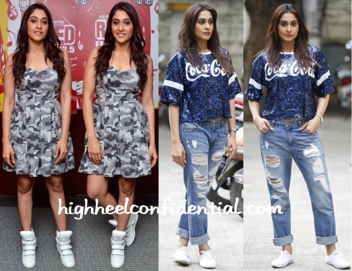 Regina Cassandra At Shourya Song Launch And At  Soukyam Promotions-2