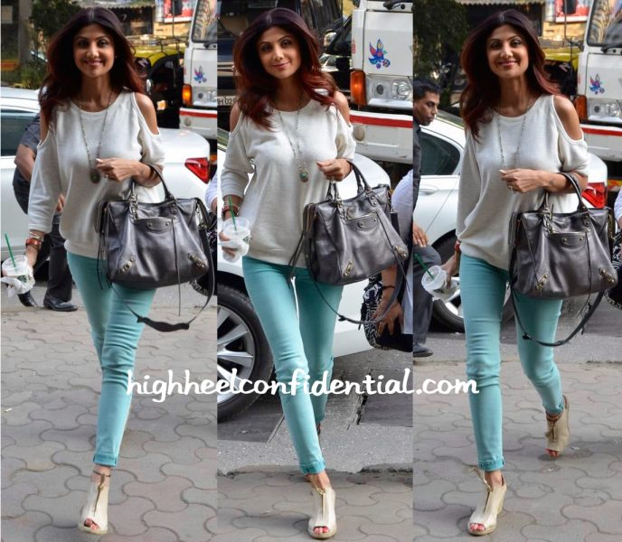 Shilpa Shetty Photographed Out And About With A Balenciaga
